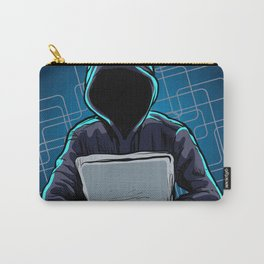 Computer hacker spread a net Carry-All Pouch