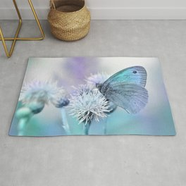 Butterfly blue 71 Rug