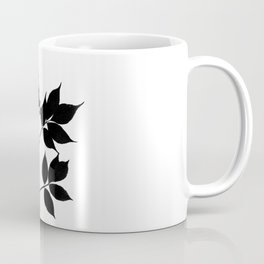 Black leaves on white Coffee Mug