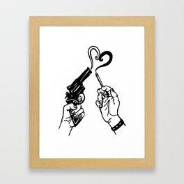 Guns N' Cigs Framed Art Print