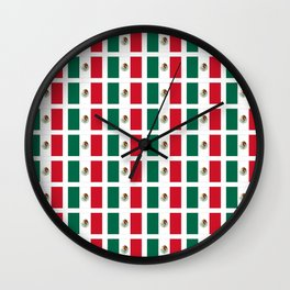Flag of mexico 2- mexico,mexico city,mexicano,mexicana,latine,peso,spain,Guadalajara,Monterrey Wall Clock