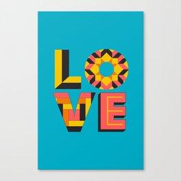 LOVE - Turquoise Canvas Print