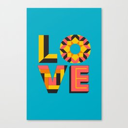 LOVE - Turquoise Canvas Print