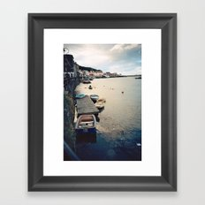 Whitby Row Boats Framed Art Print
