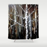 frank Shower Curtains featuring Frank by EBC art