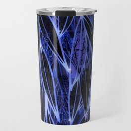 Blue Bamboo Night Print Travel Mug