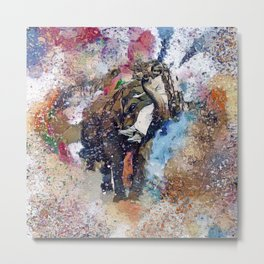 Elephant Painting Metal Print