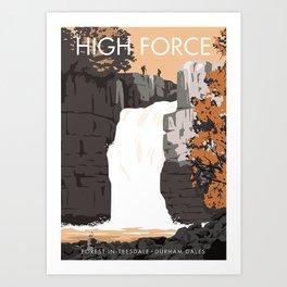 High Force waterfall Art Print