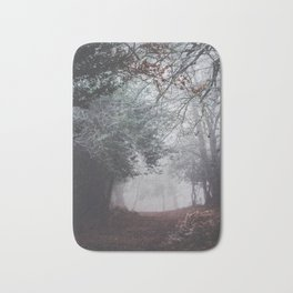 Dark fog forest Bath Mat
