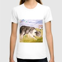 border collie T-shirts featuring Border Collie by Caballos of Colour