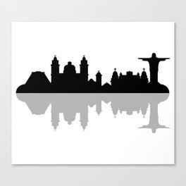 skyline of rio de janeiro Canvas Print
