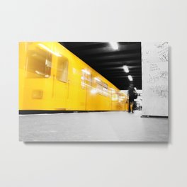 U-Bahn Berlin Selective Colour Metal Print