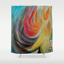 Guided Shower Curtain