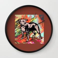 Super dog pop art Wall Clock