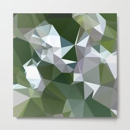 Castleton Green Abstract Low Polygon Background Metal Print