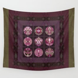 Red Shiso Positive Messages Quilt Art Wall Tapestry