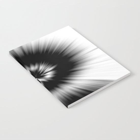 TIE DYE #1 (Black & White) Notebook