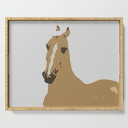 Abstract Palomino Horse Serving Tray