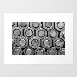 STUDS (b&w) Art Print