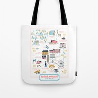 maryland Tote Bags featuring Frederick, Maryland by Eine Kleine Design Studio