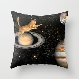Cat.In.Space. Throw Pillow