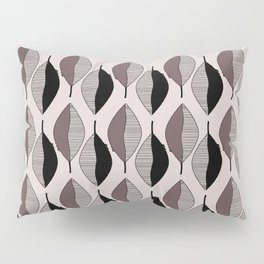 Mauve & black leaves Pillow Sham