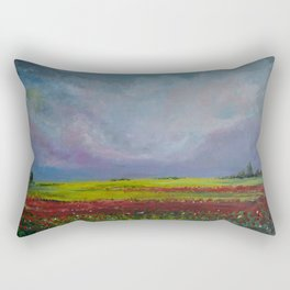 Poppy Fields Rectangular Pillow