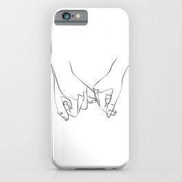 Pinky Swear, One Line Drawing Art iPhone Case