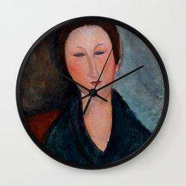 """Amedeo Modigliani """"Buste de jeune fille (Mademoiselle Marthe)"""" Wall Clock"""