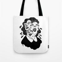 agnes cecile Tote Bags featuring Europa, Agnes and Phyllis by Anna Lisa Illustration