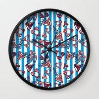 bikini Wall Clocks featuring bikini by lindseyclare