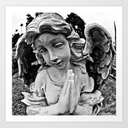 Cracked angel Art Print