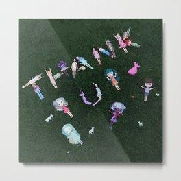 Thank You As Dolls Metal Print