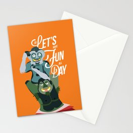 Let's have fun, all day!  Stationery Cards