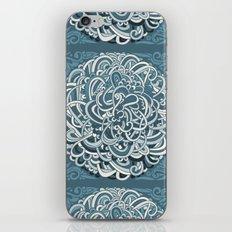 Detailed circlecorner, blue iPhone & iPod Skin
