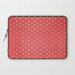 Lots of Dots - Geometric Pattern Design (Red) Laptop Sleeve