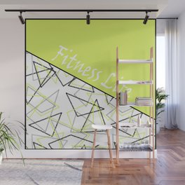 The fitness club . Sport . Lemon white creative sport pattern . Wall Mural