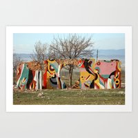 colorful remains Art Print