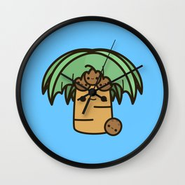 Palm tree with coconuts Wall Clock
