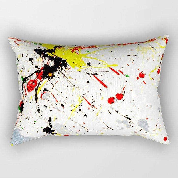 Paint Splatter Rectangular Pillow