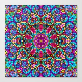 Saratoga Rainbow Swirls Absract Mandala Canvas Print