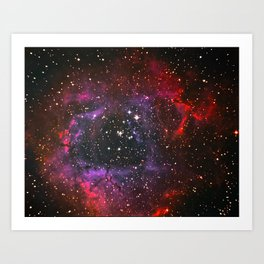 Rosette Nebula in Space, Winter 2017 Art Print