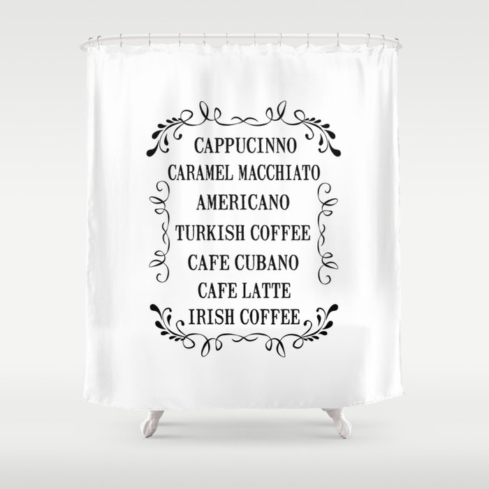 Coffee Coffee Shower Curtain