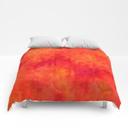 Sunset Blush Red Comforters