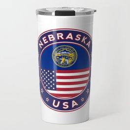 Nebraska, Nebraska t-shirt, Nebraska sticker, Nebraska Poster Travel Mug