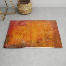 Abstract golden Autumn Rug