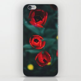 Red roses yellow iPhone Skin