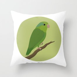 Pacific Parrotlet Throw Pillow