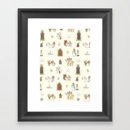 The Holy Grail Pattern Framed Art Print