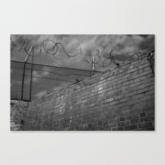 Brick and wire Canvas Print